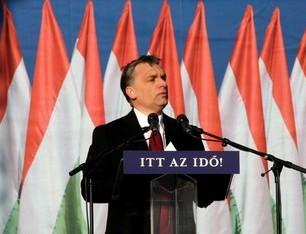 Viktor Orban en campagne électorale, 2010 (Crédit : HU-lala)