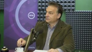 Orbán Viktor sur Kossuth Rádió (MTI Fotó: Koszticsák Szilárd).