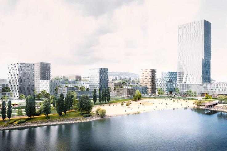 Aperçu 3D du projet (© BudaPart).