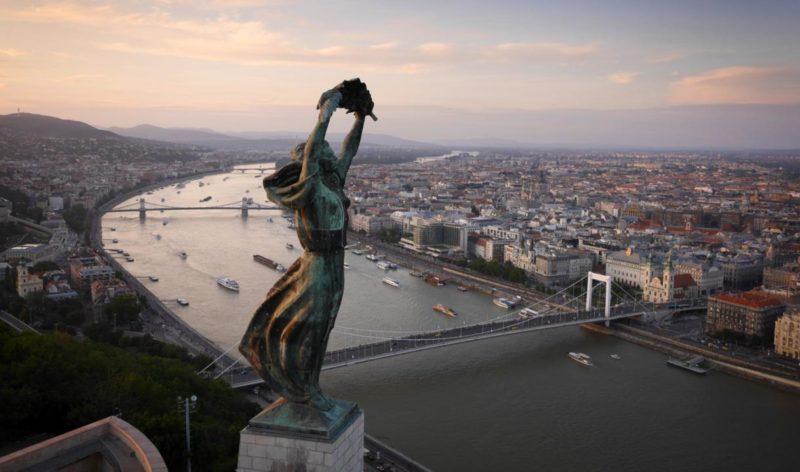 Panorama sur le Danube à Budapest.