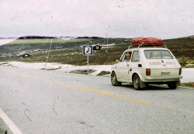 En 1976, une Polski Fiat perdue en Norvège - Fortepan
